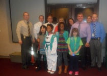 Troop #864 visiting Raleigh Police Department.