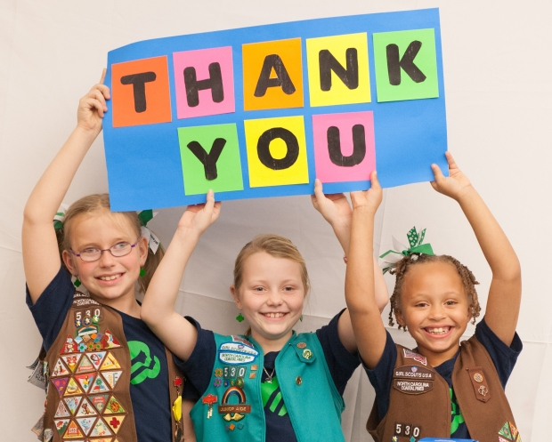 Thank You Girl Scout NC Coastal Pines Volunteers
