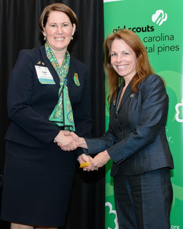 State Senator Barringer and Girl Scouts CEO Lisa Jones