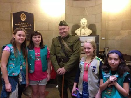 WWI Troop 734 Plus One with Reenactor
