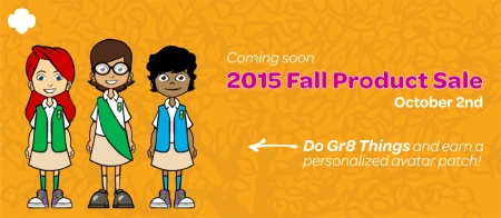 Girl Scouts Fall Product Sale 2015
