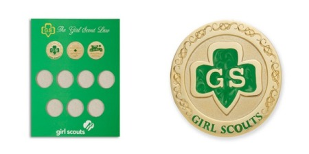 Girl Scout Gift Coins and Holder