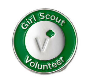 Girl Scout Volunteer Pin - Girl Scouts - NC Coastal Pines