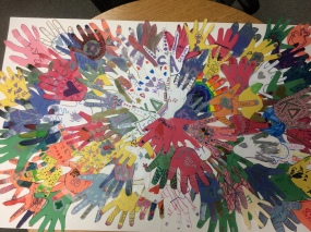 World thinking handprint