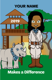 Girl Scout in Safari Outfit - Lookout Tower